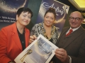 Belfast Mayor Deirdre Hargey with Jackie and John D'Arcy launching Aisling 18 at the Balmoral Hotel