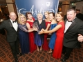 Aisling Awards 2017 Europa Hotel. pictured:   Kerry-Anne McCrudden, Kelsey Barr, Alison McCrudden, Katie Bonner, Bernadette Johnston, Lynsey Martin, Tony Devlin and Niall Murphy (Brassneck) (Peoples Choice Award)  JC17