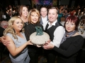 Aisling Awards 2017 Europa Hotel. pictured:   Margaret McGuckian with family and friends Chandelle Quinn, Steven McCann, Denise Burke, Una McN and Geordie Burke  JC17