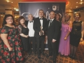 Positive Communities Belfast Aisling winners The Blackie River Group with Sean Murphy from Ulster Bank