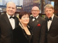 Aisling VIP's, Terri Hooley with Jackie and John D'Arcy and Glenn Patterson
