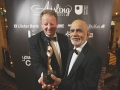 Failte Award for Hospitality & Tourism sponsored by Belfast Int Airport. Award winner Lord Diljit Rana from Andra House with award sponsor Graham Keddie from Belfast Int Airport.