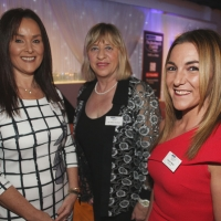 Seáinín Ward and Aisling Press of Danske Bank with Cllr Alleen Graham