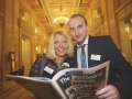 Rachel Vallely, Gareth Vallely at the Danske Bank Blackboard Awards in Stormount Parliament Building
