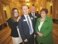 Tara Herron, Conor Herron, Brendan Herron, Colette Herron at the Danske Bank Blackboard Awards in Stormount Parliament Building
