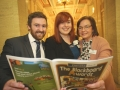 James Jackson, Edel Jackson, Mary Quinn at the Danske Bank Blackboard Awards in Stormount Parliament Building
