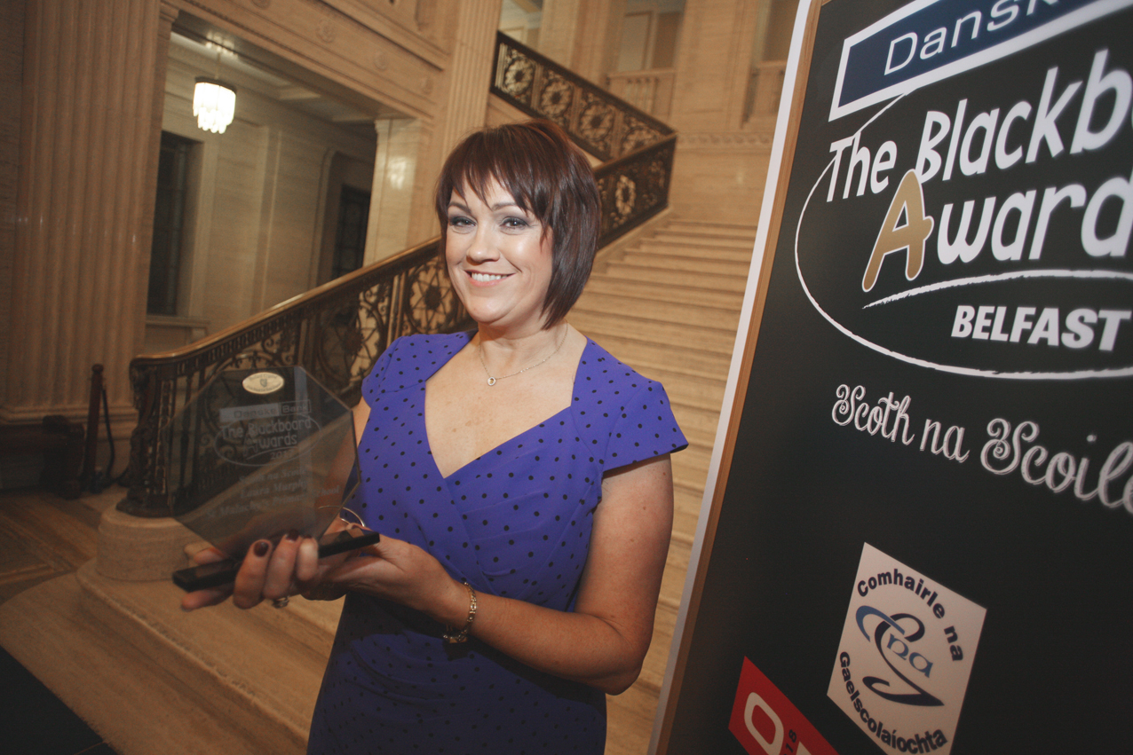 Blackboard awards Belfast 2017 at Stormount, Laura Murphy