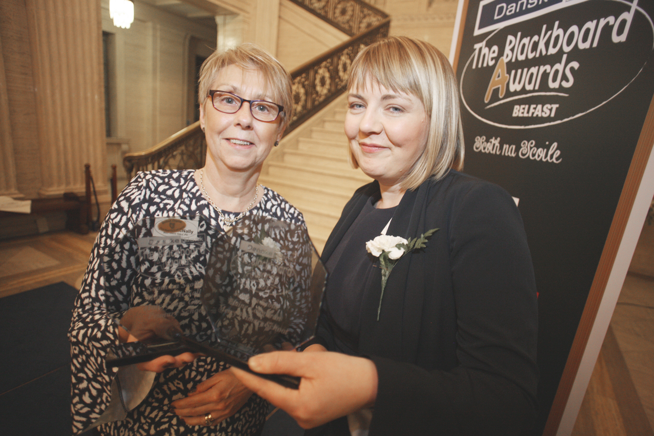 Blackboard awards Belfast 2017 at Stormount, Elaine Loughran and Maura McNally