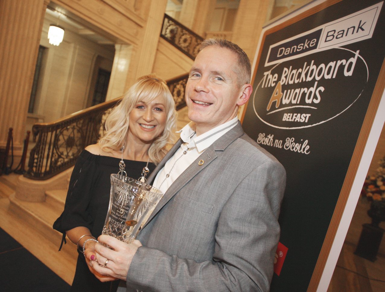 Blackboard awards Belfast 2017 at Stormount, Dara and Bridi MaCcoille