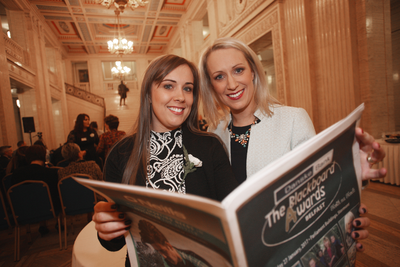 Blackboard awards Belfast 2017 at Stormount, Lynsey Patton with Catherine Roulston
