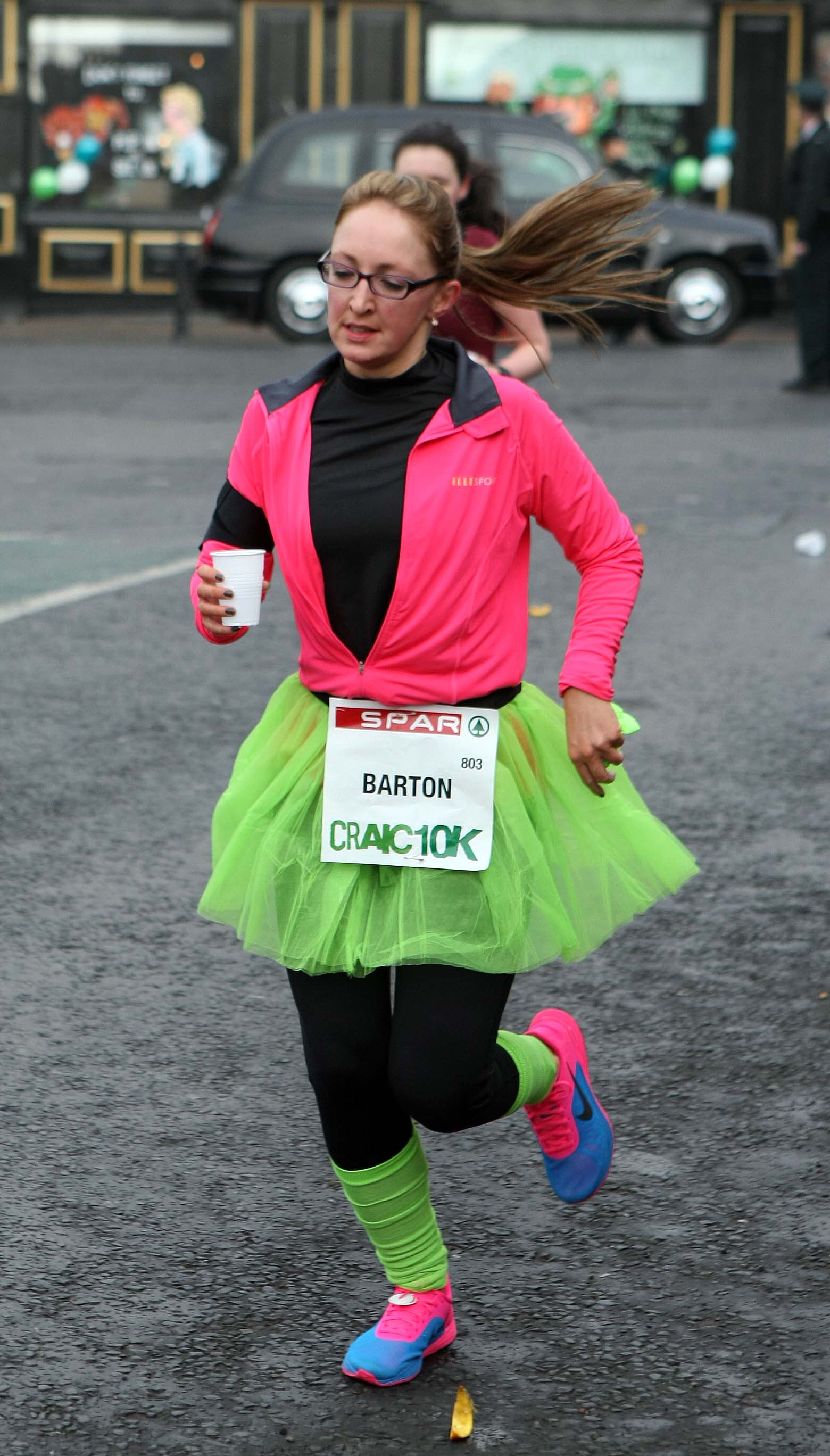 Tuesday 17-3-2015St Patrick's DaySPAR Craic 10k BelfastFancy dress fun for the runSparCraic10K170315FP023